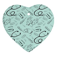 Pattern Medicine Seamless Medical Heart Ornament (two Sides)