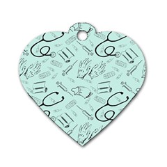 Pattern Medicine Seamless Medical Dog Tag Heart (two Sides)