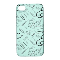 Pattern Medicine Seamless Medical Apple Iphone 4/4s Hardshell Case With Stand