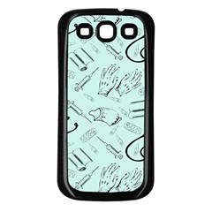 Pattern Medicine Seamless Medical Samsung Galaxy S3 Back Case (black)