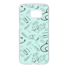 Pattern Medicine Seamless Medical Samsung Galaxy S7 Edge White Seamless Case