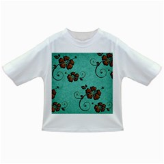 Chocolate Background Floral Pattern Infant/toddler T Shirts
