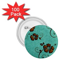 Chocolate Background Floral Pattern 1 75  Buttons (100 Pack)