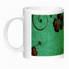 Chocolate Background Floral Pattern Night Luminous Mugs
