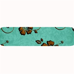 Chocolate Background Floral Pattern Large Bar Mats