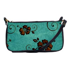 Chocolate Background Floral Pattern Shoulder Clutch Bags