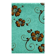 Chocolate Background Floral Pattern Shower Curtain 48  X 72  (small)