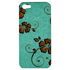 Chocolate Background Floral Pattern Apple Iphone 5 Hardshell Case