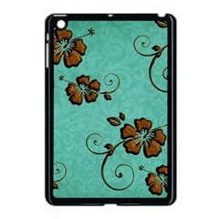 Chocolate Background Floral Pattern Apple Ipad Mini Case (black)