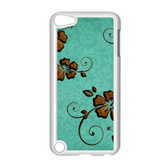 Chocolate Background Floral Pattern Apple Ipod Touch 5 Case (white)