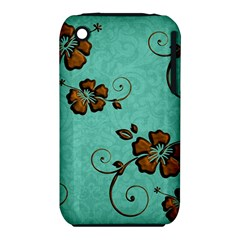 Chocolate Background Floral Pattern Iphone 3s/3gs
