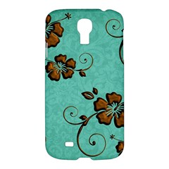 Chocolate Background Floral Pattern Samsung Galaxy S4 I9500/i9505 Hardshell Case