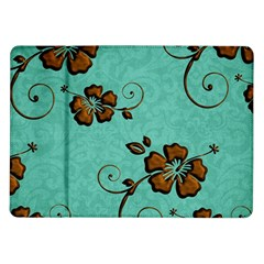 Chocolate Background Floral Pattern Samsung Galaxy Tab 10 1  P7500 Flip Case