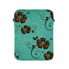 Chocolate Background Floral Pattern Apple Ipad 2/3/4 Protective Soft Cases