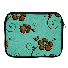 Chocolate Background Floral Pattern Apple Ipad 2/3/4 Zipper Cases