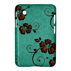Chocolate Background Floral Pattern Samsung Galaxy Tab 2 (7 ) P3100 Hardshell Case