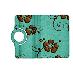 Chocolate Background Floral Pattern Kindle Fire Hd (2013) Flip 360 Case