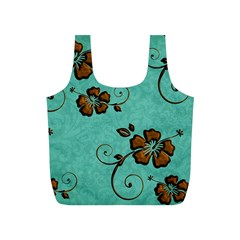 Chocolate Background Floral Pattern Full Print Recycle Bags (s)