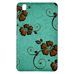 Chocolate Background Floral Pattern Samsung Galaxy Tab Pro 8 4 Hardshell Case