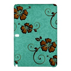 Chocolate Background Floral Pattern Samsung Galaxy Tab Pro 12 2 Hardshell Case
