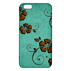 Chocolate Background Floral Pattern Iphone 6 Plus/6s Plus Tpu Case