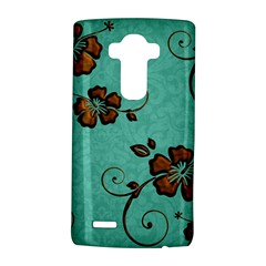 Chocolate Background Floral Pattern Lg G4 Hardshell Case