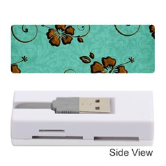 Chocolate Background Floral Pattern Memory Card Reader (stick)