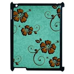 Chocolate Background Floral Pattern Apple Ipad 2 Case (black)