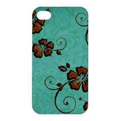 Chocolate Background Floral Pattern Apple Iphone 4/4s Hardshell Case