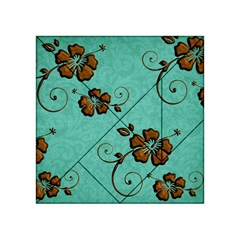 Chocolate Background Floral Pattern Acrylic Tangram Puzzle (4  X 4 )