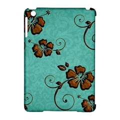 Chocolate Background Floral Pattern Apple Ipad Mini Hardshell Case (compatible With Smart Cover)