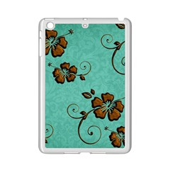 Chocolate Background Floral Pattern Ipad Mini 2 Enamel Coated Cases