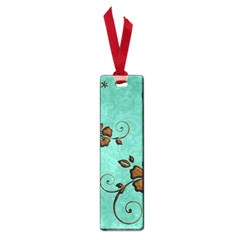 Chocolate Background Floral Pattern Small Book Marks
