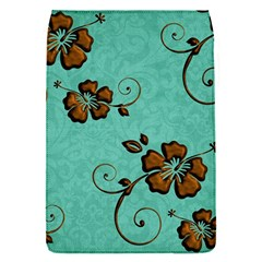 Chocolate Background Floral Pattern Flap Covers (s)