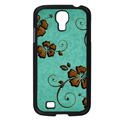Chocolate Background Floral Pattern Samsung Galaxy S4 I9500/ I9505 Case (black)