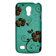 Chocolate Background Floral Pattern Galaxy S4 Mini