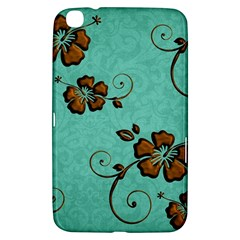 Chocolate Background Floral Pattern Samsung Galaxy Tab 3 (8 ) T3100 Hardshell Case