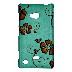 Chocolate Background Floral Pattern Nokia Lumia 720