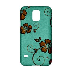 Chocolate Background Floral Pattern Samsung Galaxy S5 Hardshell Case