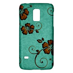 Chocolate Background Floral Pattern Galaxy S5 Mini