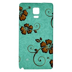 Chocolate Background Floral Pattern Galaxy Note 4 Back Case