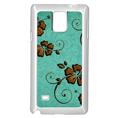 Chocolate Background Floral Pattern Samsung Galaxy Note 4 Case (white)