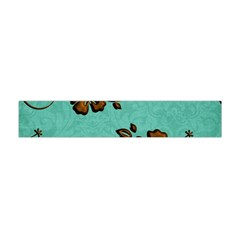 Chocolate Background Floral Pattern Flano Scarf (mini)