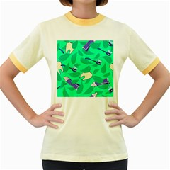 Pattern Seamless Background Desktop Women s Fitted Ringer T Shirts
