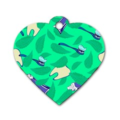 Pattern Seamless Background Desktop Dog Tag Heart (two Sides)