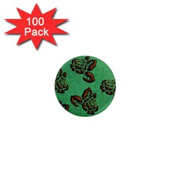 Chocolate Background Floral Pattern 1  Mini Magnets (100 Pack)