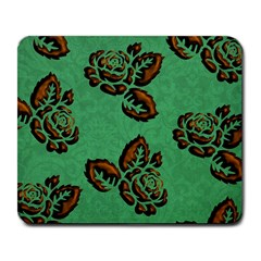Chocolate Background Floral Pattern Large Mousepads