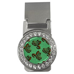 Chocolate Background Floral Pattern Money Clips (cz)