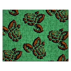 Chocolate Background Floral Pattern Rectangular Jigsaw Puzzl