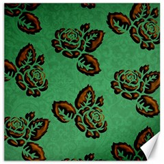 Chocolate Background Floral Pattern Canvas 20  X 20